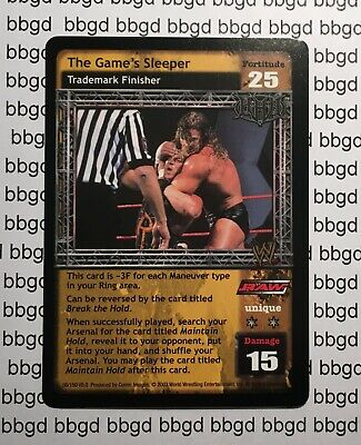 WWE Raw Deal - Velocity - Premium Rare - TRIPLE H - HHH - The Game's Sleeper, used for sale  Shipping to India