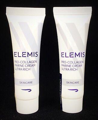 Lot Of 2  Elemis Pro Collagen Marine Cream Ultra Rich  2Oz   Value  32 Sealed