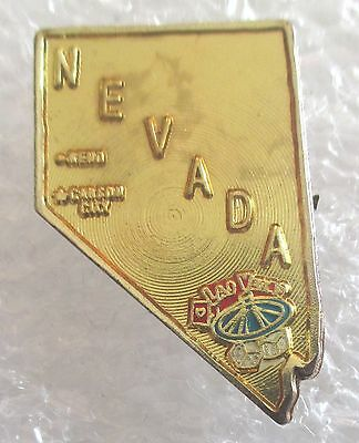 Vintage State of  Nevada Map Travel Souvenir Collector Pin