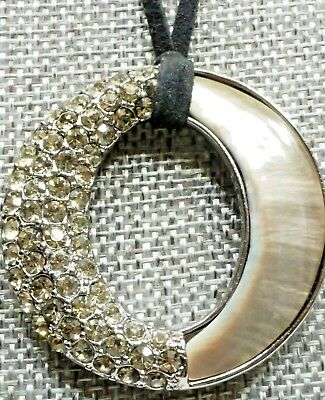 A3) Kiam Family Beautiful Mother of Pearl and Crystal Necklace