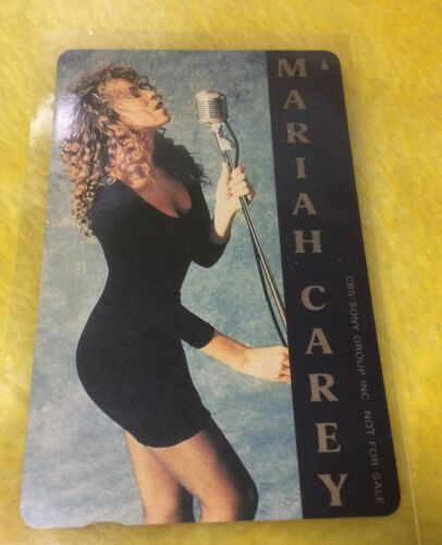 MARIAH CAREY /  1990 Debut Album Promotion Calling card / CBS SONY