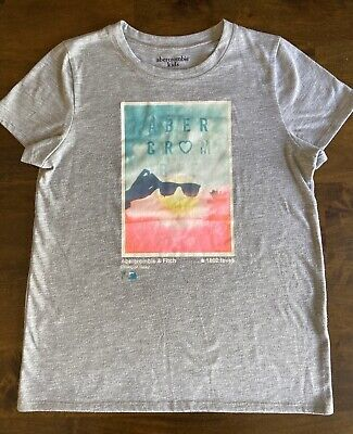 Girls Abercrombie Kids Sleep Tshirt In Grey Size 13/14