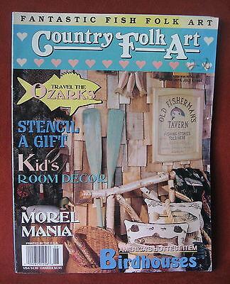 Folk Art Ozarks Country Magazine 1994 Fish Kids Decor Birdhouses Craft Projects - Fish Art Projects