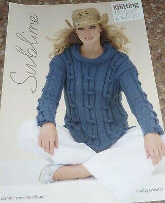Simply Sublime Knitting Pattern Lady's Aran Nautical Knotty Sweater