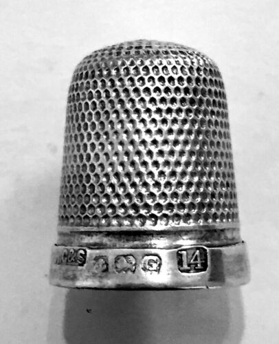 Henry Griffith & Son Sterling Silver Thimble Birmingham The Spar 1931 Hallmarked