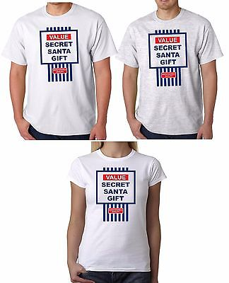 Value Secret Santa Gift Unisex Funny Christmas T-Shirt Cheap Xmas Present Tesco ()