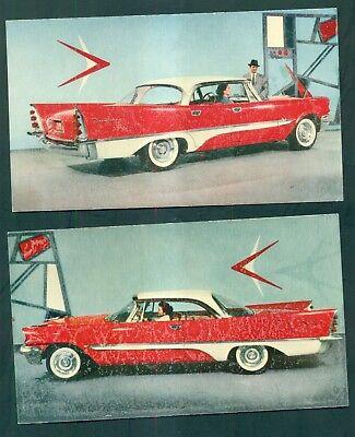 1957 De Soto Fireflite Sportsman Promotional Postcards
