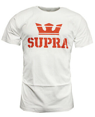 Supra Above Mens T Shirt Short Sleeved Top Casual White Red 104000 104 RW91