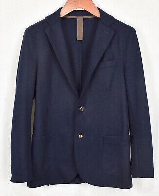 ELEVENTY Slim-Fit Laser-Cut Notch Lapel Flannel Wool Jacket 48 Italy 38