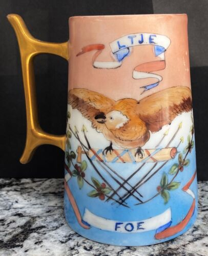 """FRATERNAL ORDER OF EAGLES~""""LIBERTY, TRUTH, JUSTICE, EQUALITY""""MUG~GREAT GRAPHICS!"""
