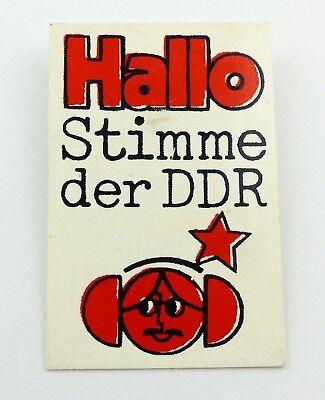 e9492 DDR Abzeichen Hallo Stimme der DDR Anstecknadel