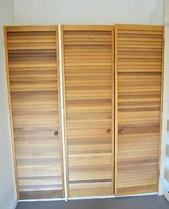3 Timber Louvre Door Fitted Wardrobe Beaumaris Bayside Area Preview