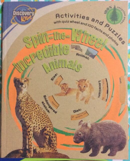 Spin-the-Wheel Incredible Animals: Activities & Puzzles c2010, VGC Paperback