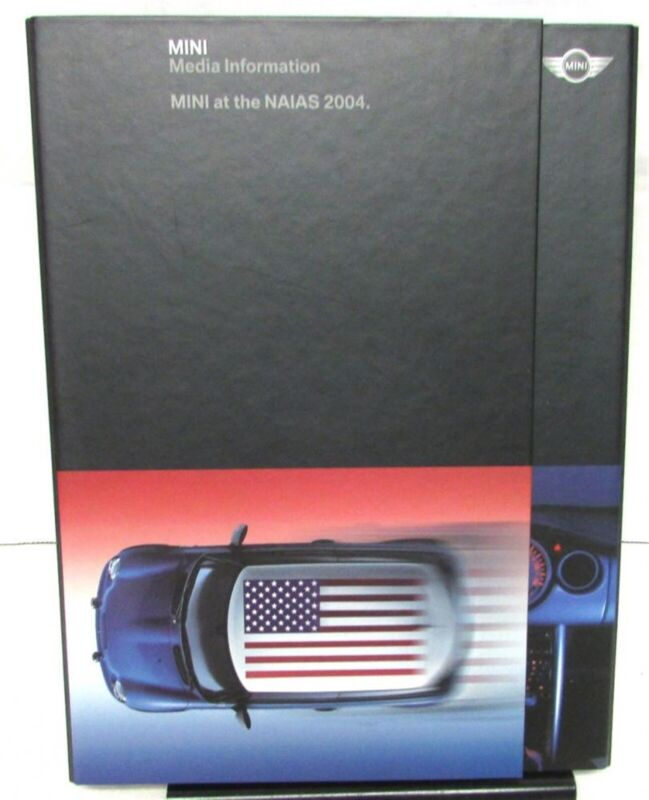 2004 Mini Cooper S Press Kit At NAIAS Sales Brochure CD in Hard Folder Original