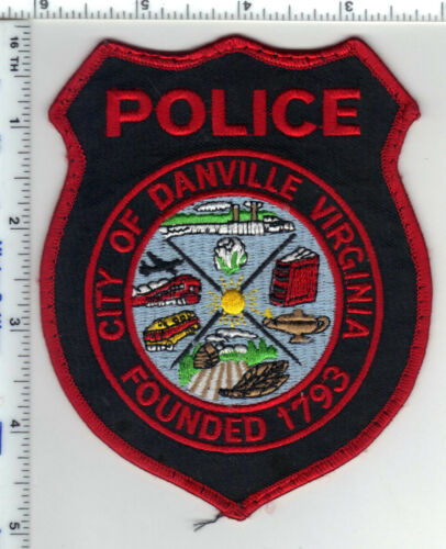 Danville Police (Virginia) Red Uniform Take-Off Shoulder Patch from 1980