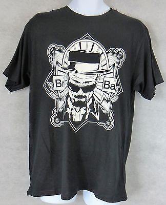 Breaking Bad Mens T-Shirt New Black Walter White Sunglasses Heisenberg Free (Heisenberg Sunglasses)