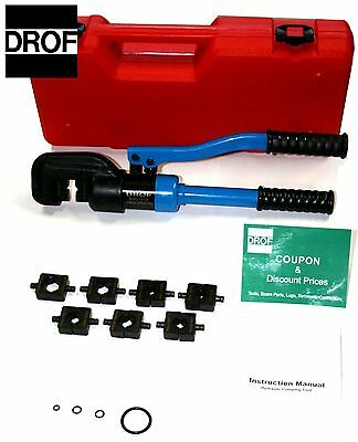 3 TOOLS PACK**12TON 7 to 4/0 Hydraulic Crimper Terminal Wire Cable Crimping Tool on Rummage