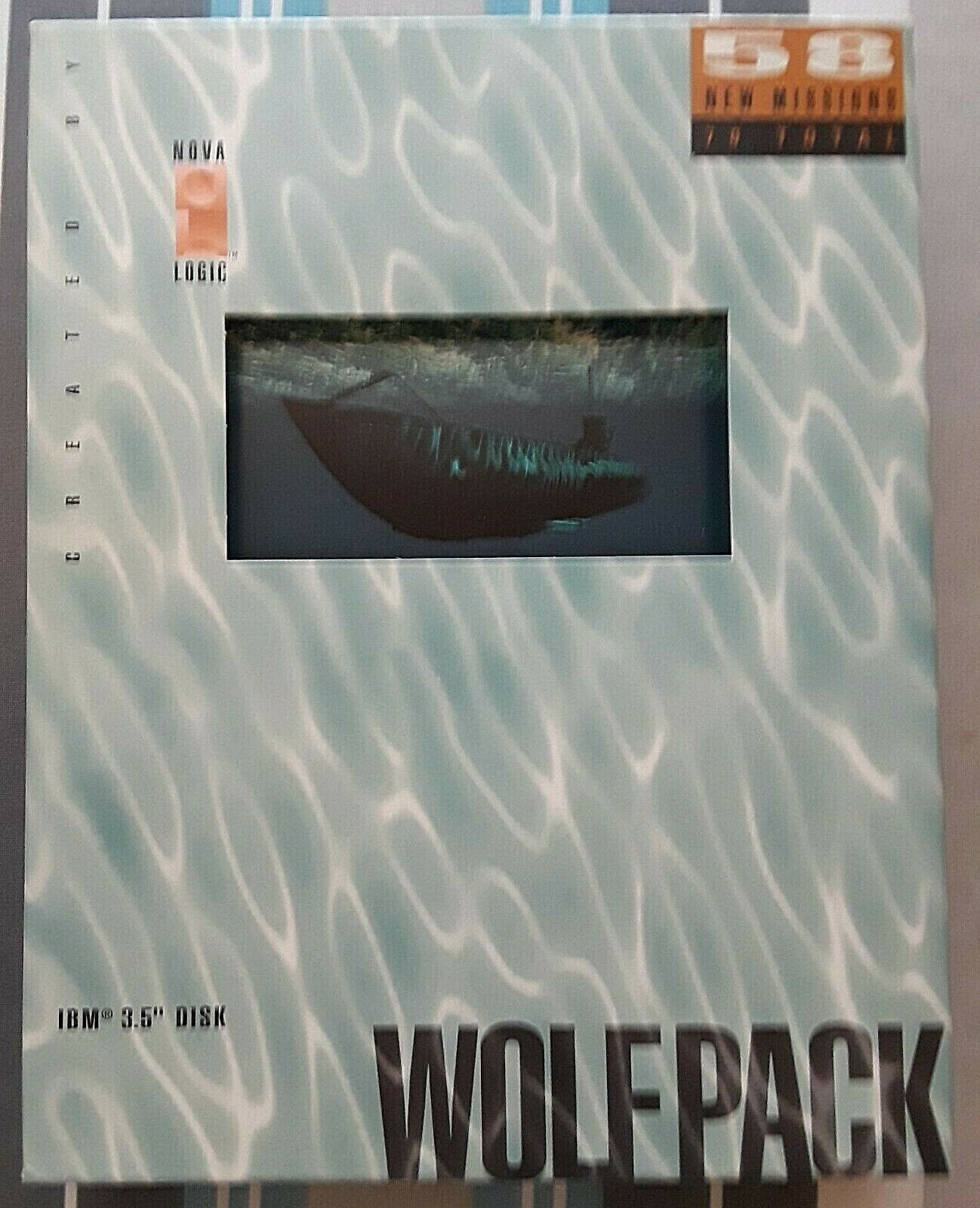 """Computer Games - WolfPack Submarine Computer 78 Games Vintage, 3.5""""Disk, Box, Contents, Not Used"""