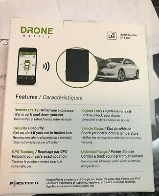 Firstech Drone Mobile 4G AT&T LTE DR 5400 Smartphone and GPS Tracking Module new