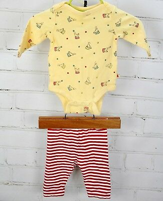 BABY GAP Outfit Set Circus One Piece Romper Bodysuit & Pants Newborn Boys 0-3 - Baby Circus Outfit
