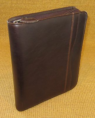 Classicdesk 1 Rings Brown Sim. Leather Day-timer Plannerbinder Fit Franklin