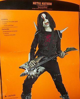 Rot 'N Rockers COSTUME Halloween M 7-8, XL 14-16 Punk-Metal-Rock Band-Boys NEW