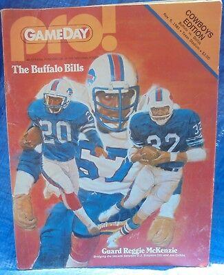 NFL Football Gameday Program Buffalo Bills At Dallas Cowboys Nov 9 1981 Texas