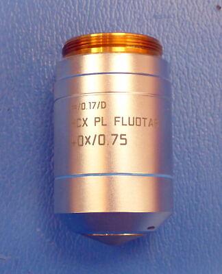 Genuine Leica Hcx Pl Fluotar 40x 0.75 0.17d Objective 506144