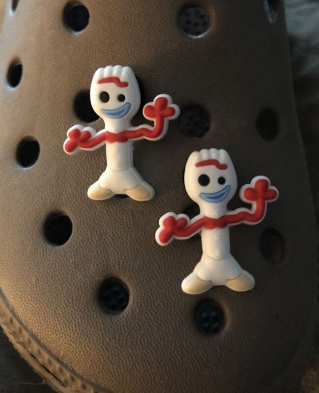 New Toy Story 4 FORKY forky Crocs Shoe Charm  Set Of Two For Crocs