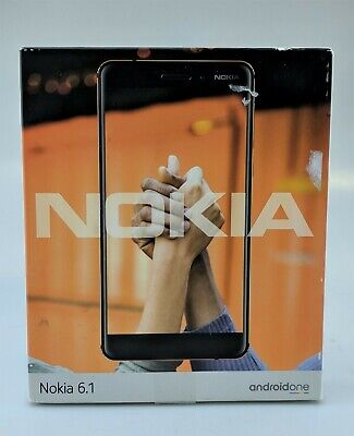 Nokia 6.1 TA-1045 32GB Black Unlocked Android Smartphone In Box Excellent Shape