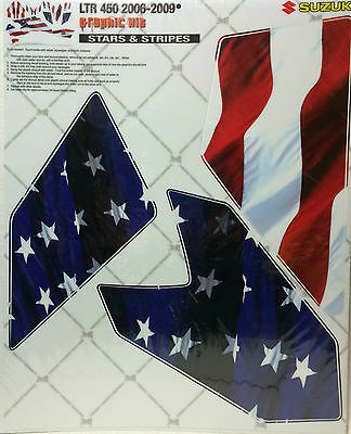 AMR Racing Graphic Sticker Wrap Kit Sale For Suzuki LTR 450 06-09 USA FLAG