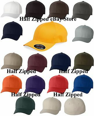 20 Flexfit Structured Twill Fitted Cap Baseball Hat 6277 S-2XL Wholesale Twill-fitted Cap