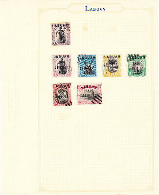 Album Page of Early Labuan QV Stamps #AP101