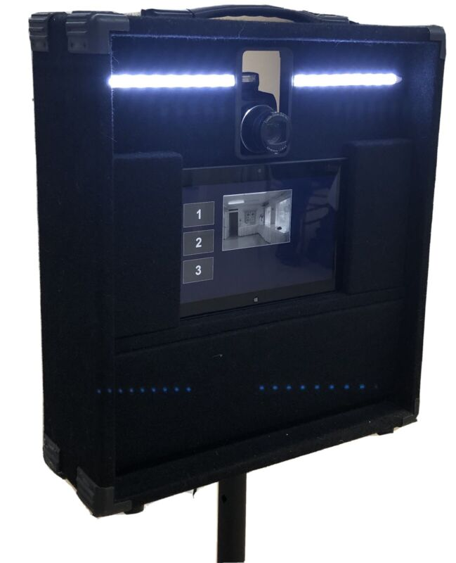 Photo Booth Complete - Professional -Computer, Digital Camera, LED Lights & Case