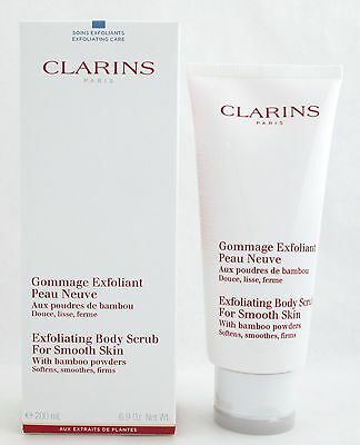 - Clarins Exfoliating Body Scrub for Smooth Skin 6.9 oz/200 ml Brand New In Box