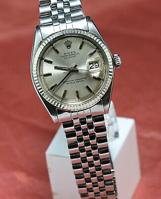 Vintage ROLEX OYSTERPERPETUAL DATEJUST Ref 1601 AUTOMATIC Cal 1570 26 Jewels