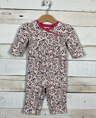 Baby Girl TEA Collection Sz 6 12m One Piece Floral Bird Romper l/s Pants Outfit
