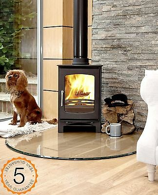 85% Efficent Purefire 5kw Curve Multi-Fuel Woodburning Stove Stoves Log Burner