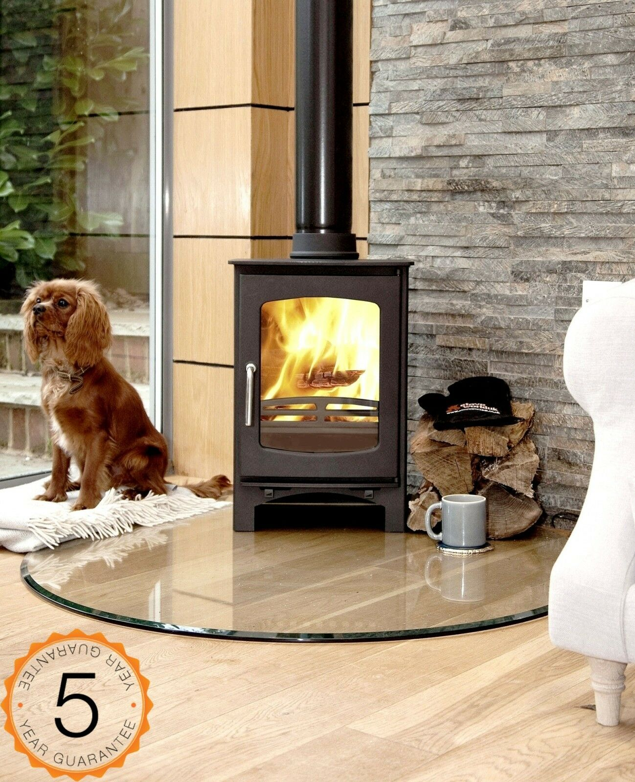 85 efficent purefire 5kw curve multi fuel woodburning. Black Bedroom Furniture Sets. Home Design Ideas