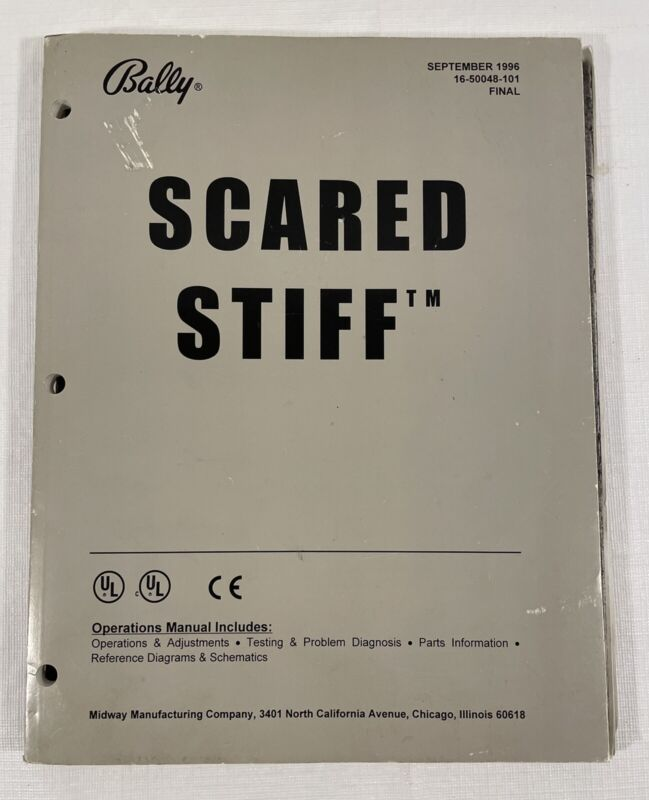 Bally Scared Stiff Operations Manual September 1996 16-50048-101 FINAL