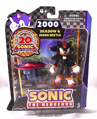 SONIC THE HEDGEHOG - SHADOW & MONO BEETLE ACTION FIGURE 20th Anniversary >NEW<