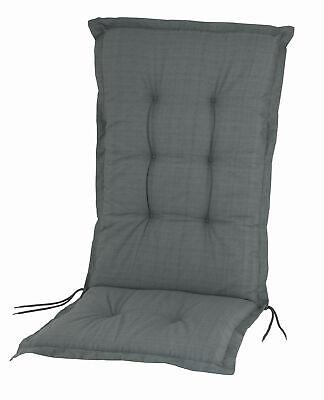 Hochlehner Auflage Gartenstuhl Sitz Stuhl Sessel Auflagen Sitzpolster grau 8cm