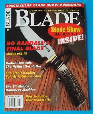 BLADE MAGAZINE JULY 1997 FEATURING BO RANDALL'S FINAL BLADE! STIDHAM ESTATE