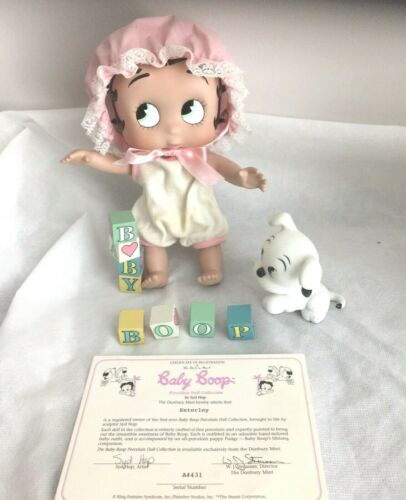 "VTG  Danbury Mint Betty Boop Baby Boop Porcelain Doll ""B""  Is For Boop"" w/BOX"