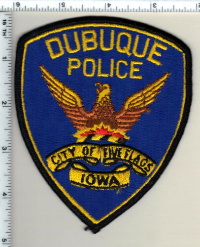 Dubuque Police (Iowa)  Shoulder Patch - new from 1991