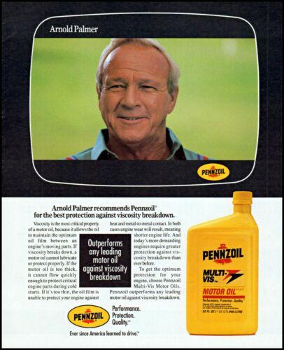 1992 Arnold Palmer photo pro golfer Pennzoil motor oil print ad adl85