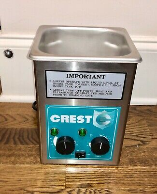 Crest Tru-sweep Ultrasonic Cleaner 175hta With Heat Timer