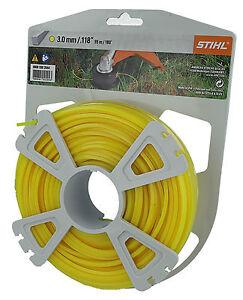 Genuine STIHL 3mm x 55 Metres Square Nylon Strimmer Line Cord 0000 930 2644