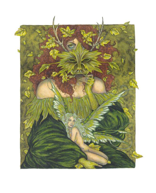 "Greenwoman Fairy Print by Fantasy Artist Amy Brown. 8"" x 10"""