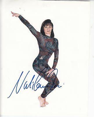 NADIA COMANECI OLYMPICS GYMNASTICS HAND SIGNED PHOTO AUTHENTIC GENUINE 10x8